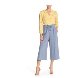Elodie High Waist Cropped Wide Leg Blue pants